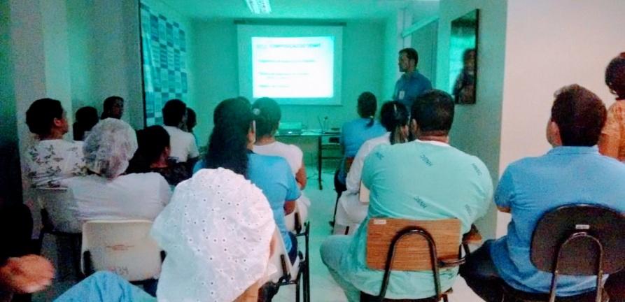 Profissionais do HNSC participam de capacitação sobre saúde e segurança no trabalho