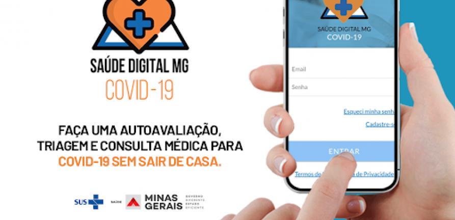 Saúde Digital MG Covid-19: app auxilia cidadão a realizar consulta médica online referente ao coronavírus